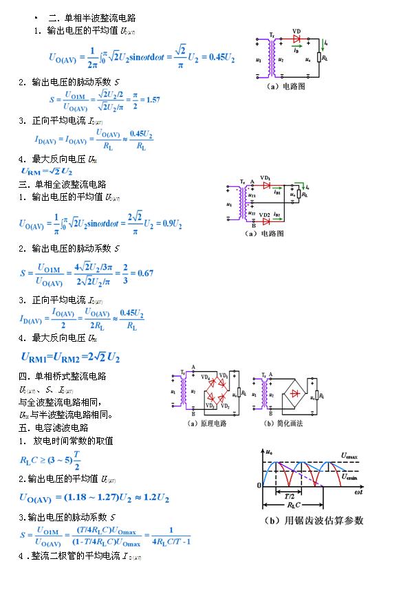 电子电气信息类专业知识模拟电路备考